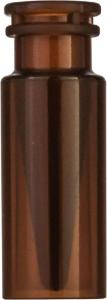Snap ring/crimp neck vial, N 11, 11,6×32,0 mm, 0,3 ml, inner cone, PP amber