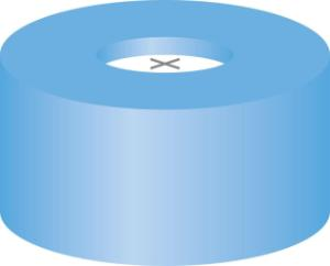 Snap ring closure, N 11,PE(soft),l.blue,centre hole,siliconew./PTFE blue,cross-slit,1,0 mm