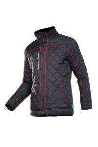Quilted jacket with fleece lining