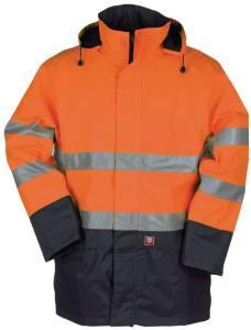 Flame-retardant rain jacket, high visibility, Reaven 9462